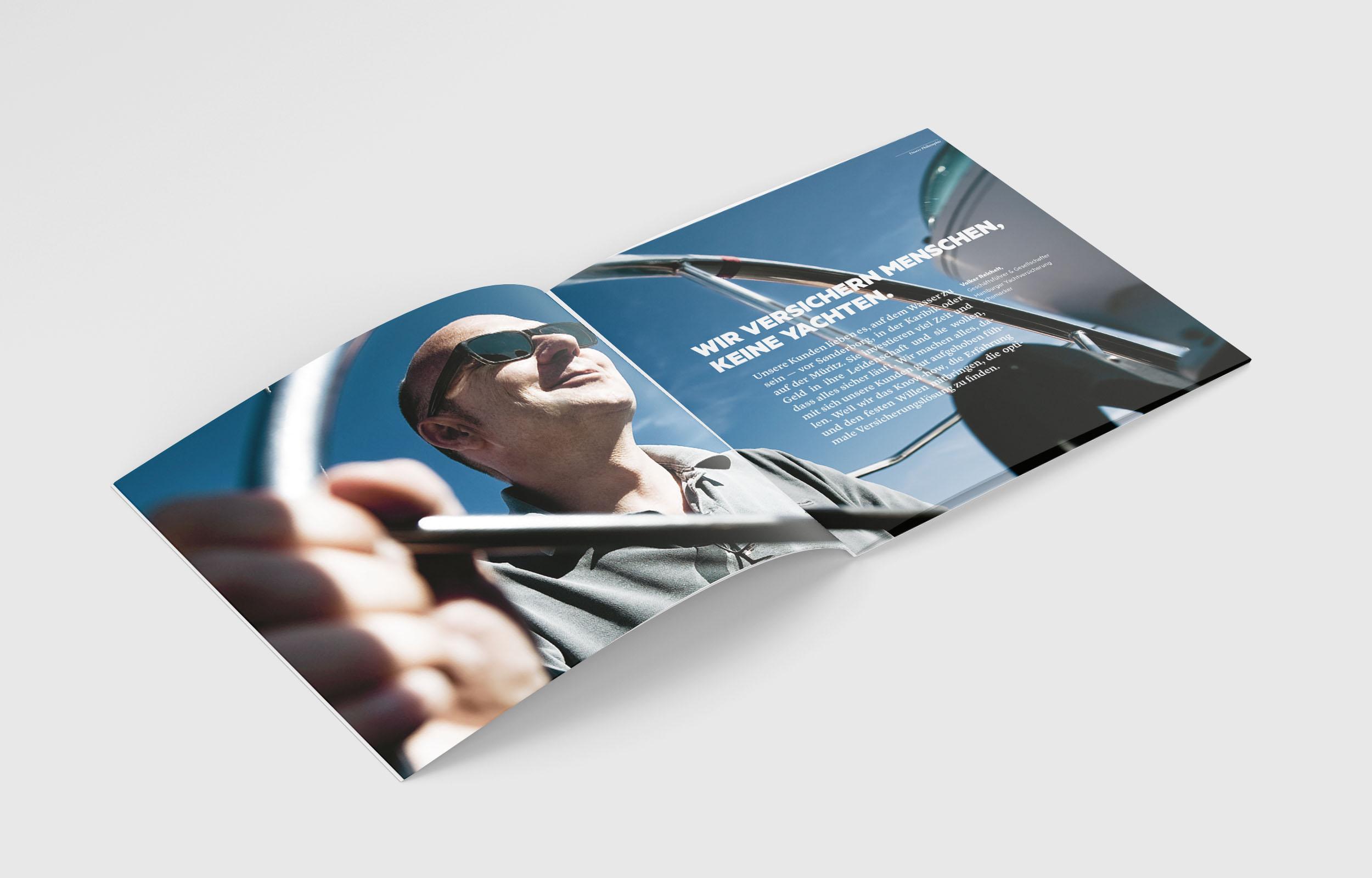 Hamburger Yachtversicherung Schomaker - Imagebroschüre